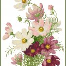 Sweet Summer Cosmos Cross Stitch Pattern Chart Graph