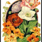 Nasturtiums and Poppies Cross Stitch Pattern Chart Graph