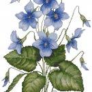 Spring Violets Cross Stitch Pattern Chart Graph