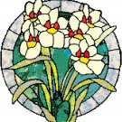 Orchids in Stained Glass Cross Stitch Pattern Chart Graph