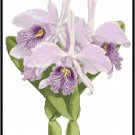 Cattleya Maximus Orchid Cross Stitch Pattern Chart Graph