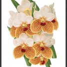 Vanda Sanderiana Orchid Cross Stitch Pattern Chart Graph