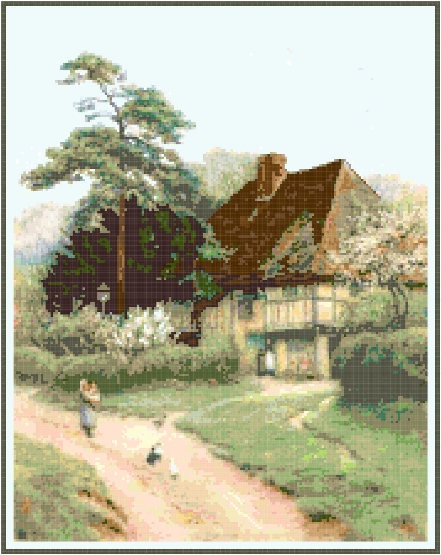 Hollingbourne Cottage Pattern Chart Graph