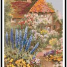 Delphinium Cottage by Raphael Tuck Cross Stitch Pattern Chart Graph