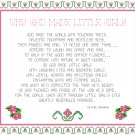 Why God Made Little Girls Cross Stitch Pattern Chart Graph