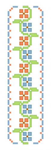 Floral Petals Bookmark Pattern Chart Graph