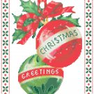 Christmas Greetings Ornaments Cross Stitch Pattern Chart Graph