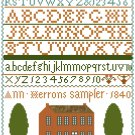 Ann Herrons Sampler Reproduction - 1840 Cross Stitch Pattern Chart Graph
