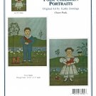 Folk Children Portraits Cross Stitch Chart Pack