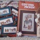 Thru the Seasons and Cotton Pickin' Cross Stitch Booklets (2)