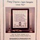 Mary Virginia Lafon Sampler ca. 1821 Leaflet