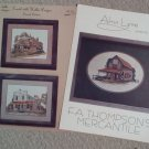 Rustic English Shop and Cottage and F.A. Thompson's Mercantile Cross Stitch Leaflets (2)
