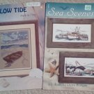 Low Tide Booklet and Sea Scenes Cross Stitch Set of 2