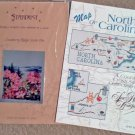 Map of North Carolina Booklet and Cranberry Ridge, NC Scene One Chart Pack Cross Stitch