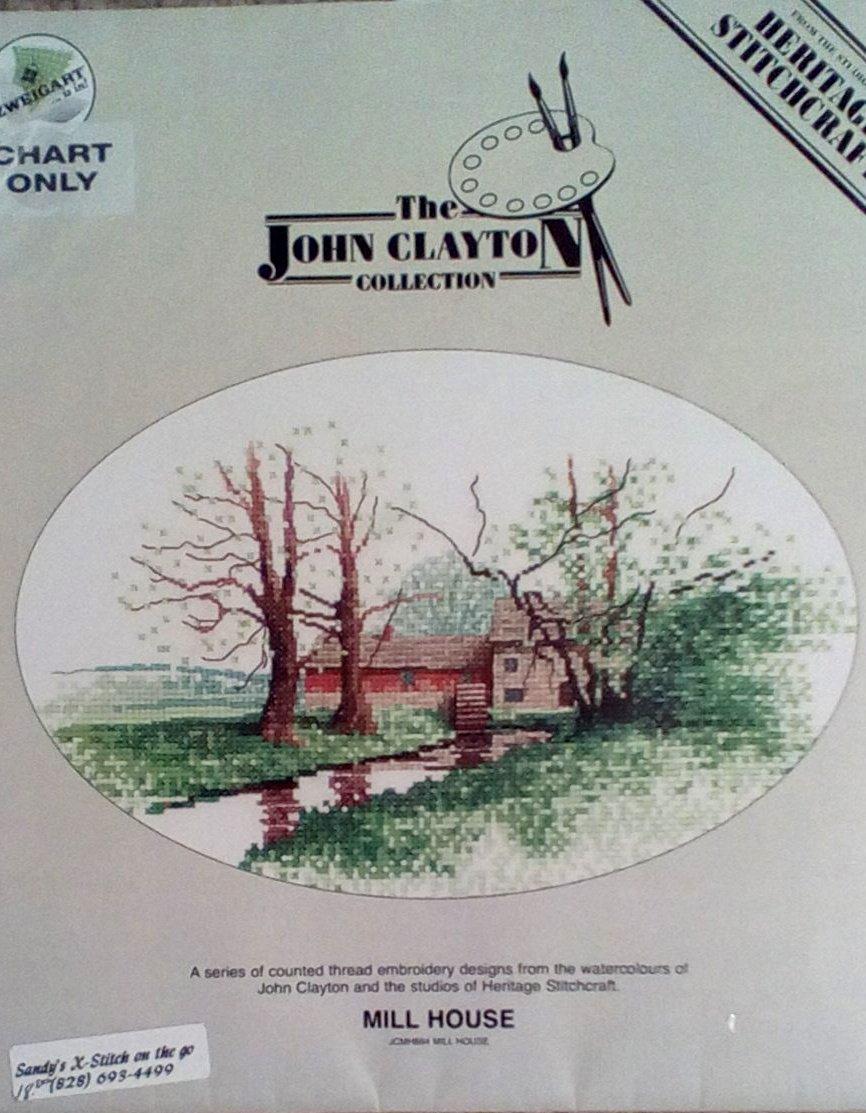 Mill House by John Clayton Cross Stitch Pattern Chart Pack
