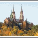 Autumn at Holy Hill Basilica = Hubertus, WI Pattern Chart Graph