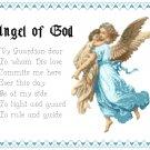 Boy's Angel of God Prayer Pattern Chart Graph