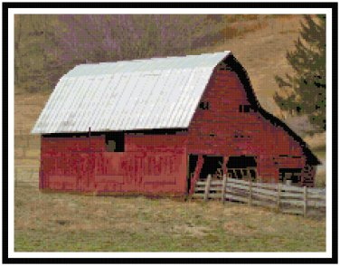 The Red Barn Pattern Chart Graph