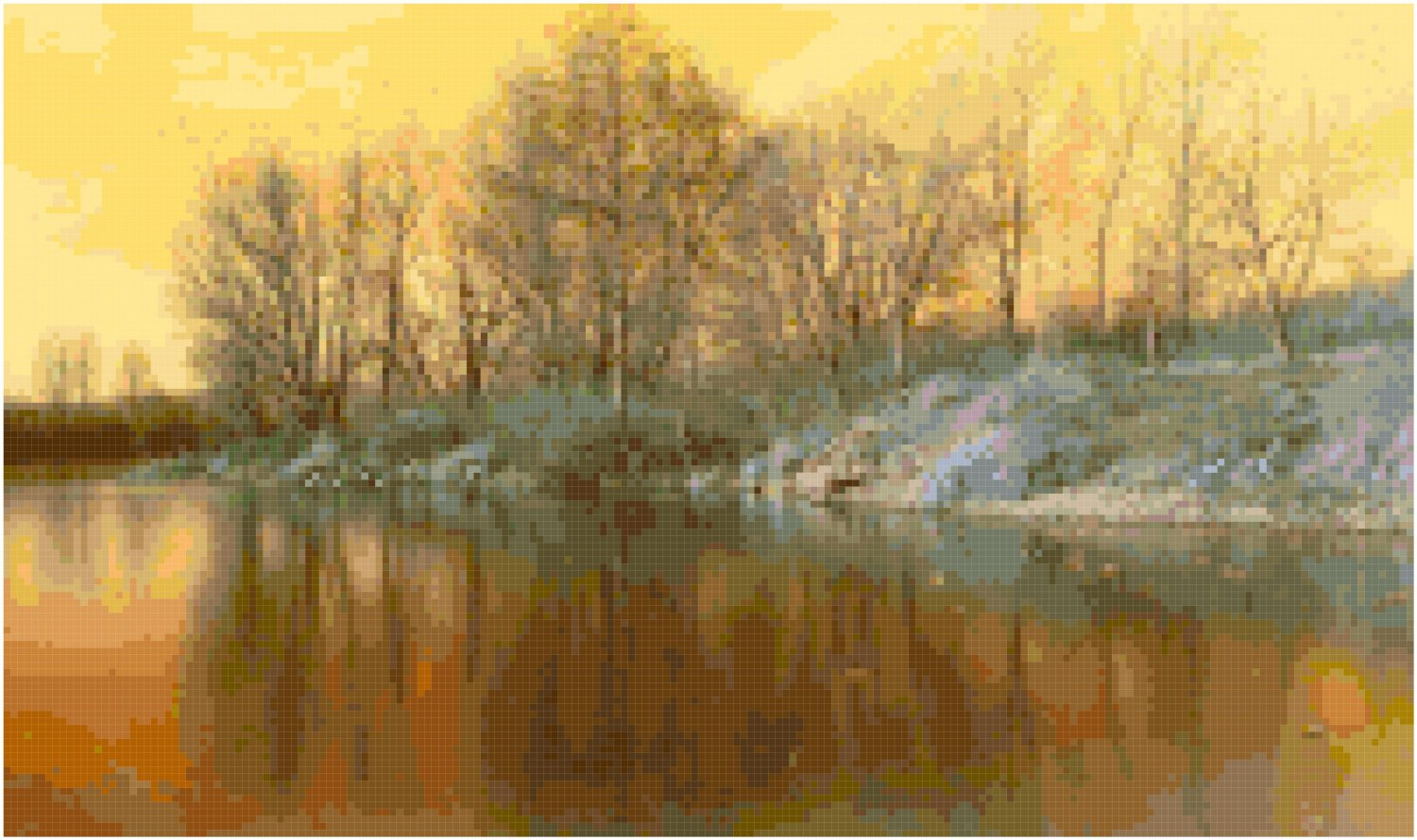 The Pond at Dawn Pattern Chart Graph
