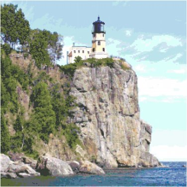 Split Rock Lighthouse, MN Pattern Chart Graph