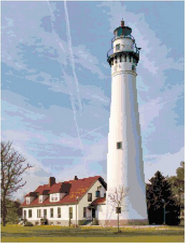 Wind Point Lighthouse, WI Pattern Chart Graph