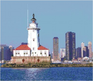 Chicago Lighthouse, IL Pattern Chart Graph
