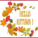 Hello Autumn! Pattern Chart Graph