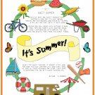 It's Summer! Pattern Chart Graph