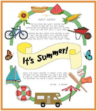 It's Summer! Pattern Chart Graph