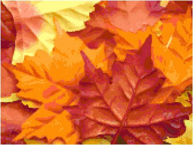 Colorful Fall Maple Leaves Pattern Chart Graph