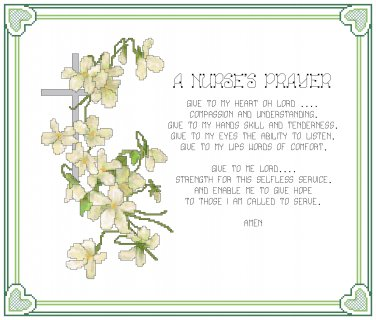 A Nurse's Prayer Pattern Chart Graph