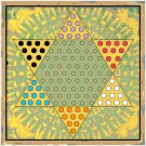 Vintage Chinese Checkers Board Pattern Chart Graph