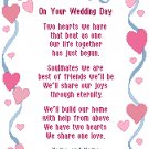 Hearts and Ribbons Wedding Sampler Pattern Chart Graph