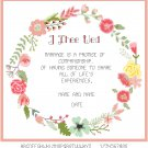I Thee Wed Circlet Wedding Sampler Pattern Chart Graph
