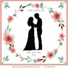 Apple Blossom Bride and Groom Wedding Sampler Pattern Chart Grapn