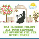 Showers and Flowers Sampler Pattern Chart Graph
