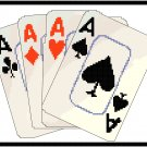 Vintage Playing Cards Pattern Chart Graph