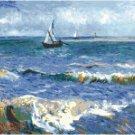 Seascape at Saintes Maries by Van Gogh Pattern Chart Graph