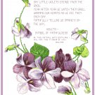 Shy Little Violets with Poem Pattern Chart Graph