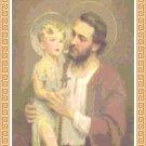St. Joseph and Young Jesus Cross Stitch Pattern Chart Graph