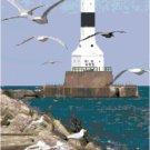 Conneaut Harbor Breakwater Lighthouse, OH Pattern Chart Graph