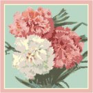 Carnations Pillow Top Cross St/Needlepoint pattern chart graph