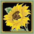 Sunflower Pillow Top Cross St/Needlepoint pattern chart graph
