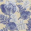 Fern and Leaf Toile Seat or Pillow Top X-Stitch or Needlepoint pattern chart graph