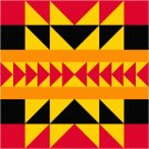 American Indian Seat or Pillow Top X-Stitch or Needlepoint pattern chart graph