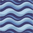 Waves Seat or Pillow Top X-Stitch or Needlepoint pattern chart graph