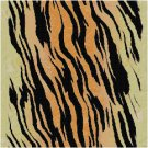 African Tiger Seat or Pillow Top X-Stitch or Needlepoint pattern chart graph