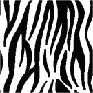 African Zebra Seat or Pillow Top X-Stitch or Needlepoint pattern chart graph