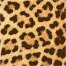 African Leopard Seat or Pillow Top X-Stitch or Needlepoint pattern chart graph