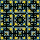 Abstract Blocks #2 Seat or Pillow Top X-Stitch or Needlepoint pattern chart graph